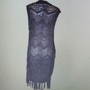 Bear Dance Knit Vest New Brown Boho Sleeveless